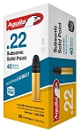 Aguila SuperExtra Subsonic .22 Long Rifle 40gr LRN