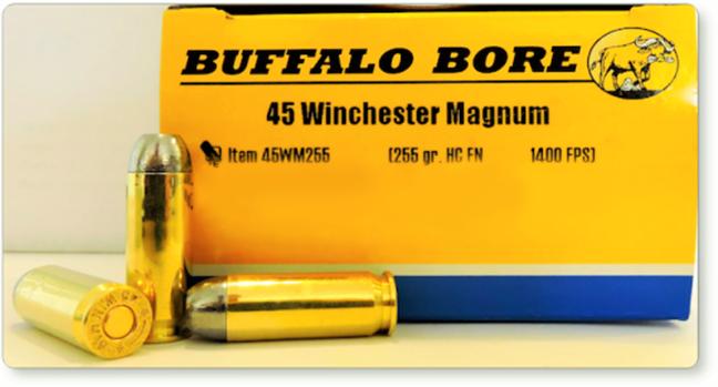 Buffalo Bore  45 Win Mag 255gr Hard Cast FN