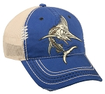 Outdoor Cap Company Marlin Bonefish Mesh Back (Royal/Khaki)