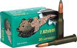 Brown Bear 7.62 x 54R 203gr Laquered SP 20 Rnds