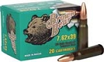 Brown Bear 7.62 x 39 123gr Polymer HP 20 Rnds