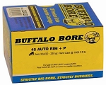 Buffalo Bore .45 Auto Rim +P 255gr Hard Cast FN