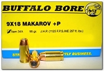 Buffalo Bore 9x18mm Makarov +P 95gr JHP