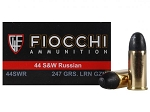 Fiocchi 44 S&W Russian 247gr LRN 50 Rnds