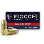 Fiocchi Shooting Dynamics 9mm Makarov (9 x 18mm) 95gr FMJ