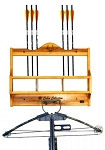 Hunter's Specialties Cabin Collection Crossbow Rack with Shelf (Albus Wood)