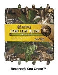 Hunter's Specialties Camo Leaf Blind (Realtree Xtra Green) (12' x 56'')