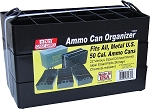 MTM 50 Cal Ammo Can Organizer Tray Set 3-Pak (Black)