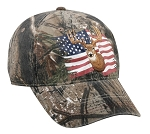 Outdoor Cap Company Realtree Xtra Deer and American Flag