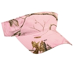 Outdoor Cap Company Garment Washed Camo Visor (Realtree APC Pink)