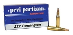 PPU 222 Remington 50gr SP