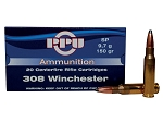 PPU 308 Winchester 150gr SP 20 Rnds
