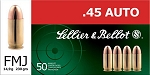 Sellier & Bellot .45 Auto 230gr FMJ