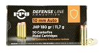PPU Defense 10mm Auto 180gr Jacketed Hollow Point (JHP)