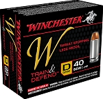 Winchester W Train & Defend 40 S&W 180gr JHP