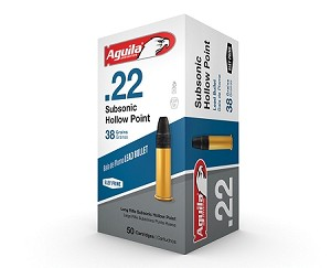 Aguila Sub Sonic .22 Long Rifle 38gr HP 50 Rnds