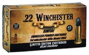 Aguila .22 Winchester Automatic 45gr LRN (Winchester Model 1903 ONLY)