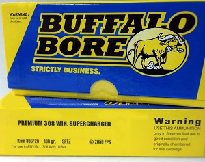 Buffalo Bore Premium 308 Winchester Supercharged 180gr Spitzer