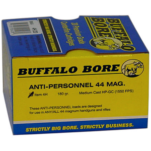 Buffalo Bore Anti-Personnel 44 Mag. 180gr Medium Cast HP-GC