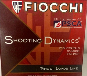 "Fiocchi Shooting Dynamics Lite Target Load 12ga 2-3/4"" 1-1/8oz  #7-1/2 Lead Shot"