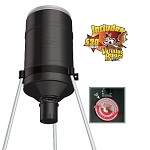 GSM Outdoors American Hunters 225 Lb. Tripod Feeder w/ Analog R-Kit Pro & Varmit Buster