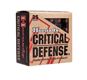 Hornady Critical Defense 357 Mag 125gr FTX