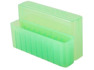 MTM Case-Gard Slip-Top Large Rifle Polymer 20 Rnds Ammo Box (Clear Green)