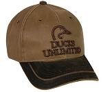 Outdoor Cap Company Ducks Unlimited Hard Pigment Dyed Twill (Brown/Khaki)