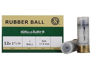 "Sellier & Bellot 12ga 2-5/8"" Rubber-Buckshot"