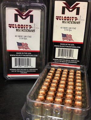 Velocity Munitions 40 S&W 180gr FMJ