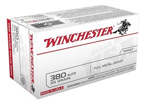 Winchester 380 ACP 95gr FMJ Value Pack