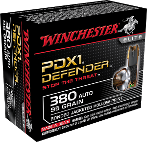 Winchester PDX1 Defender 380 Auto 95gr Bonded JHP 20 Rnds