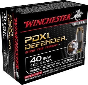 Winchester PDX1 Defender 40 S&W 180gr Bonded JHP