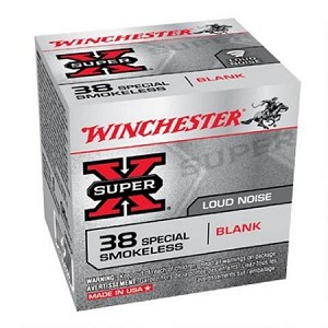 Winchester Super-X 38 Special No-bullet Smokeless Blank
