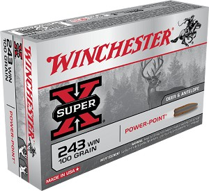 Winchester Super-X Power Point 243 Win 100gr PSP