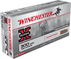 Winchester Super-X 300 WSM 180gr Power-Point
