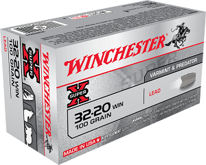 Winchester Super-X 32-20 Win 100gr Lead