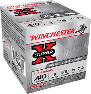 "Winchester Super-X Hi-Brass 410ga 3"" 3/4oz. 7.5-Shot"
