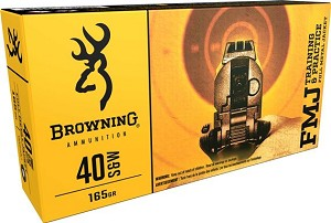 Browning Target & Practice 40 S&W 165gr FMJ