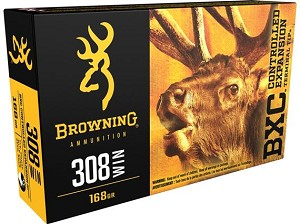 Browning BXC Controlled Expansion 308 Win 168gr Terminal Tip