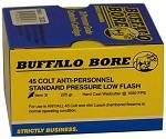 Buffalo Bore 45 Colt Anti-Personnel Std. Pressure-Low Flash 225gr Hard Cast Wad Cutter
