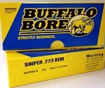 Buffalo Bore Sniper 223 Remington 69gr Sierra BTHP 1/9 Twist