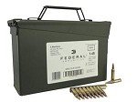 Federal Lake City 5.56x45mm 55gr FMJ Ball (w/Stripper Clips in Ammo Can)