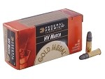 Federal Premium Gold Metal HV Match 22 Long Rifle 40gr Solid LRN