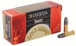 Federal Premium Gold Metal Target 22 Long Rifle 40gr Solid LRN
