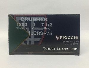 "Fiocchi Crusher Exacta Target  12ga  2-3/4"" 1 oz #7-1/2 Lead Shot"