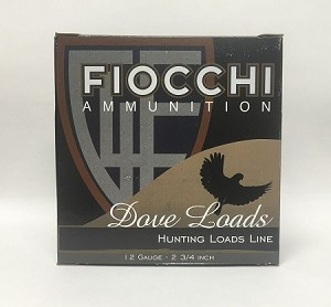 "Fiocchi Game & Target Dove Loads 12ga  2-3/4"" 1oz  #7-1/2 Lead Shot"