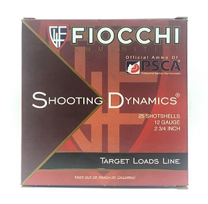 "Fiocchi Shooting Dynamics Lite Target Load 12ga 2-3/4"" 1oz #8 Lead Shot"