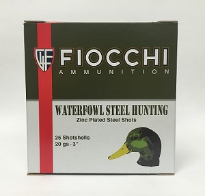 "Fiocchi Shooting Dynamics Waterfowl Speed Steel 20ga 3"" 7/8oz #5 Non-Toxic Shot Steel"