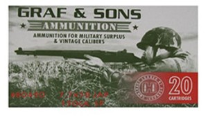 Graf & Sons (Hornady Loaded) 7.5x55 Swiss 165gr BTSP